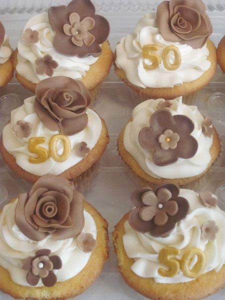 More 50th cupcakes