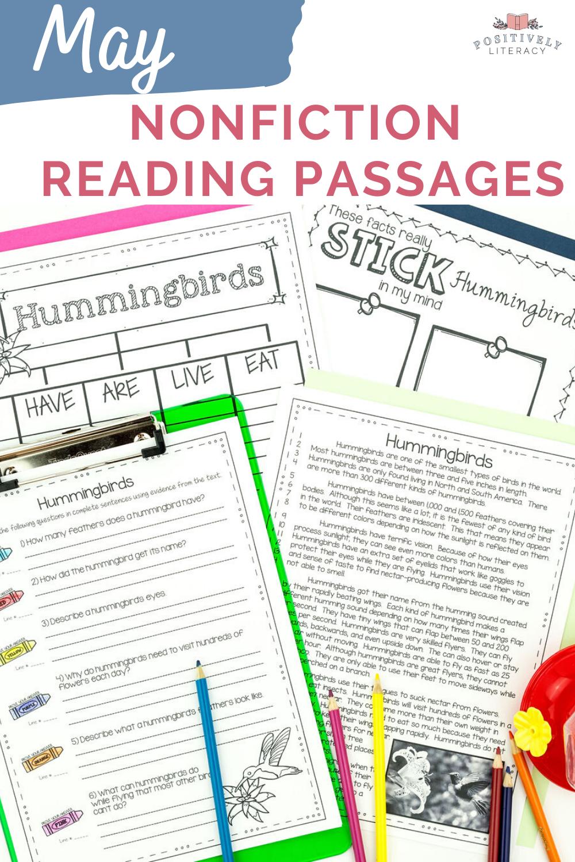 May Reading Passages Nonfiction Text Comprehension Activities Reading Passages Teaching Comprehension Nonfiction Texts [ 1500 x 1000 Pixel ]