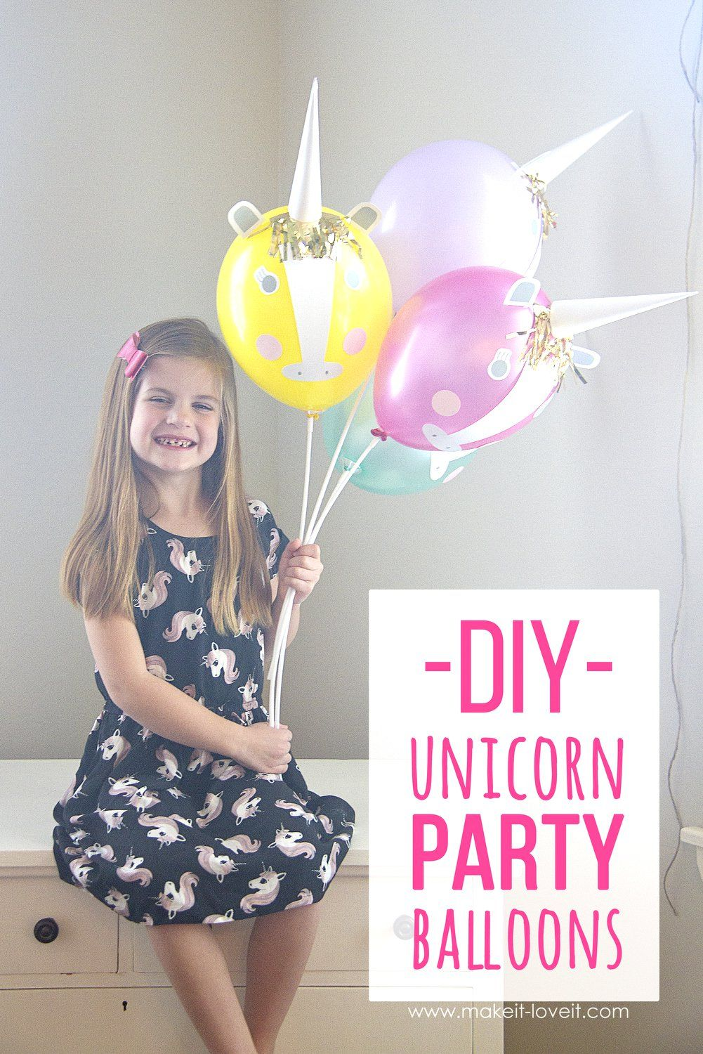 DIY Unicorn Party Balloons (Make It and Love It)   Unicorn party and ...