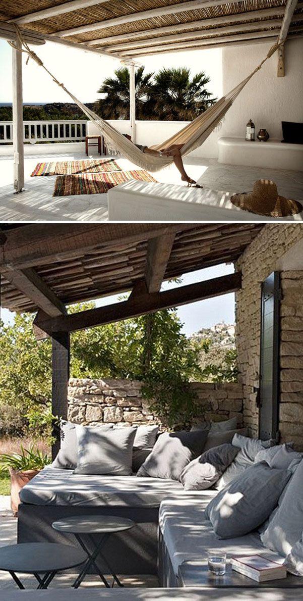 Estilo mediterr neo bancos de obra complementados con muebles de forja - Bancos de forja para jardin ...