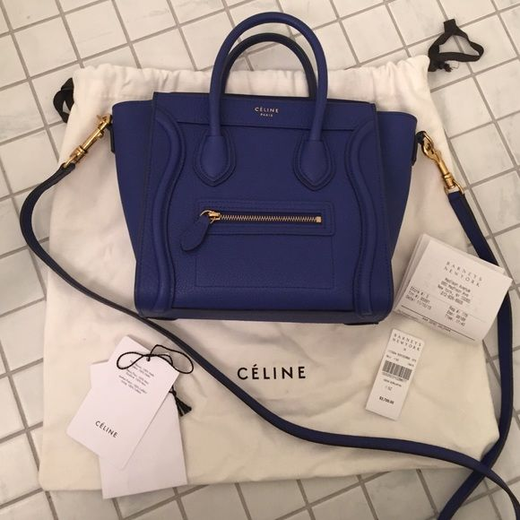 Céline Nano in Indigo Bought a few months ago. Lightly used. reallly good  condition! Comes with Barneys receipt c9acc2266e420