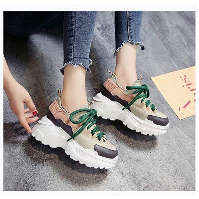 26ffbf320c Amazon.com | U-MAC Womens Platform Wedge Sneakers Breathable Mesh Athletic  Walking Shoes