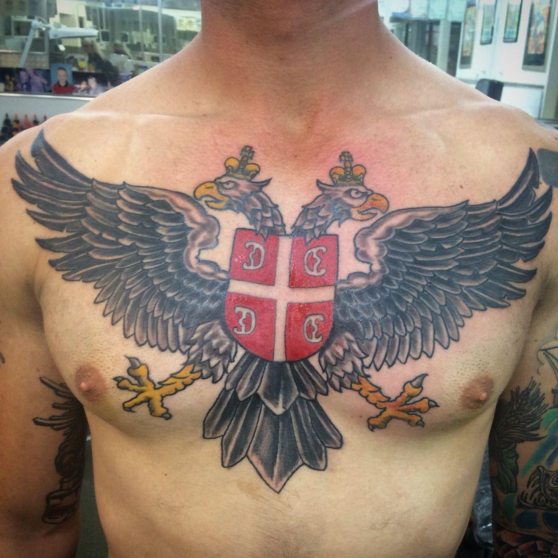 Serbia Eagle Tattoo Eagle Tattoos Tattoos Hand Tattoos