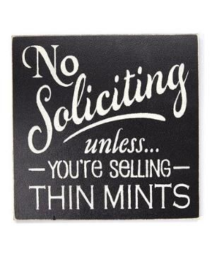 Another great find on #zulily! 'No Soliciting Unless...' Wall Sign #zulilyfinds by hannahmnt