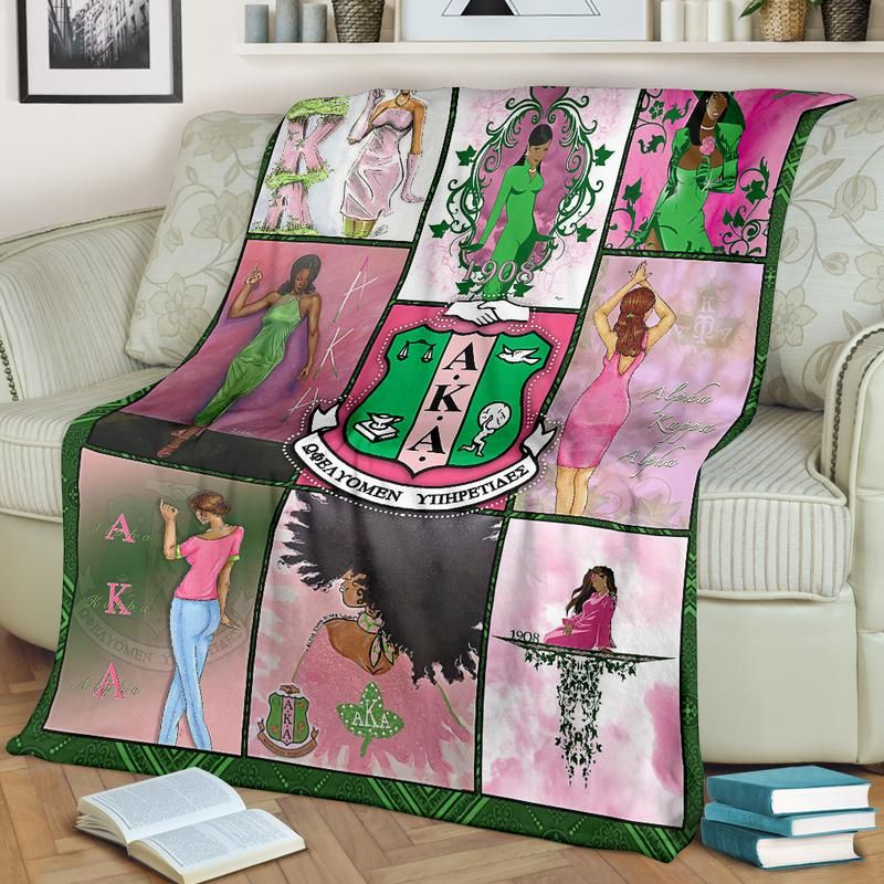 alpha kappa alpha fleece blanket