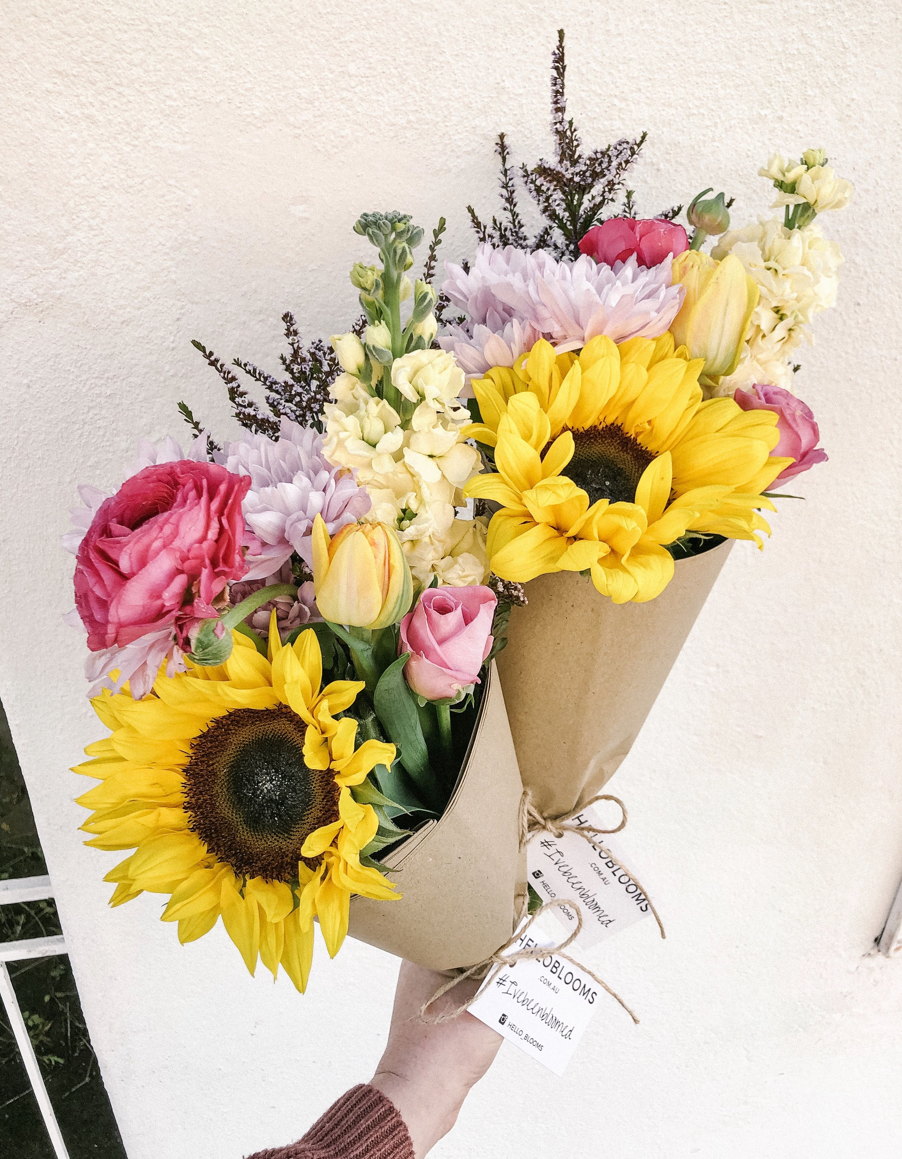 We Are Days Away From Spring And We Couldn T Be More Excited Sunflowers Tulips Roses Ranunculus Stoc Flower Delivery Flowers Delivered Flower Arrangements