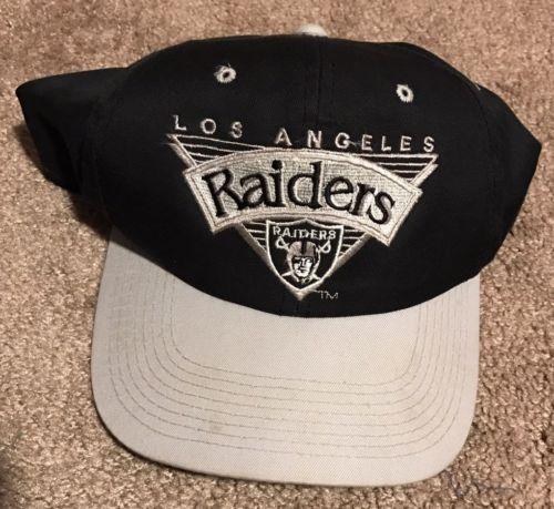 3739f66d664 Vintage LA Raiders Snapback Hat NFL Football 90s Hiphop NWA Fashion Rare  USA 80s