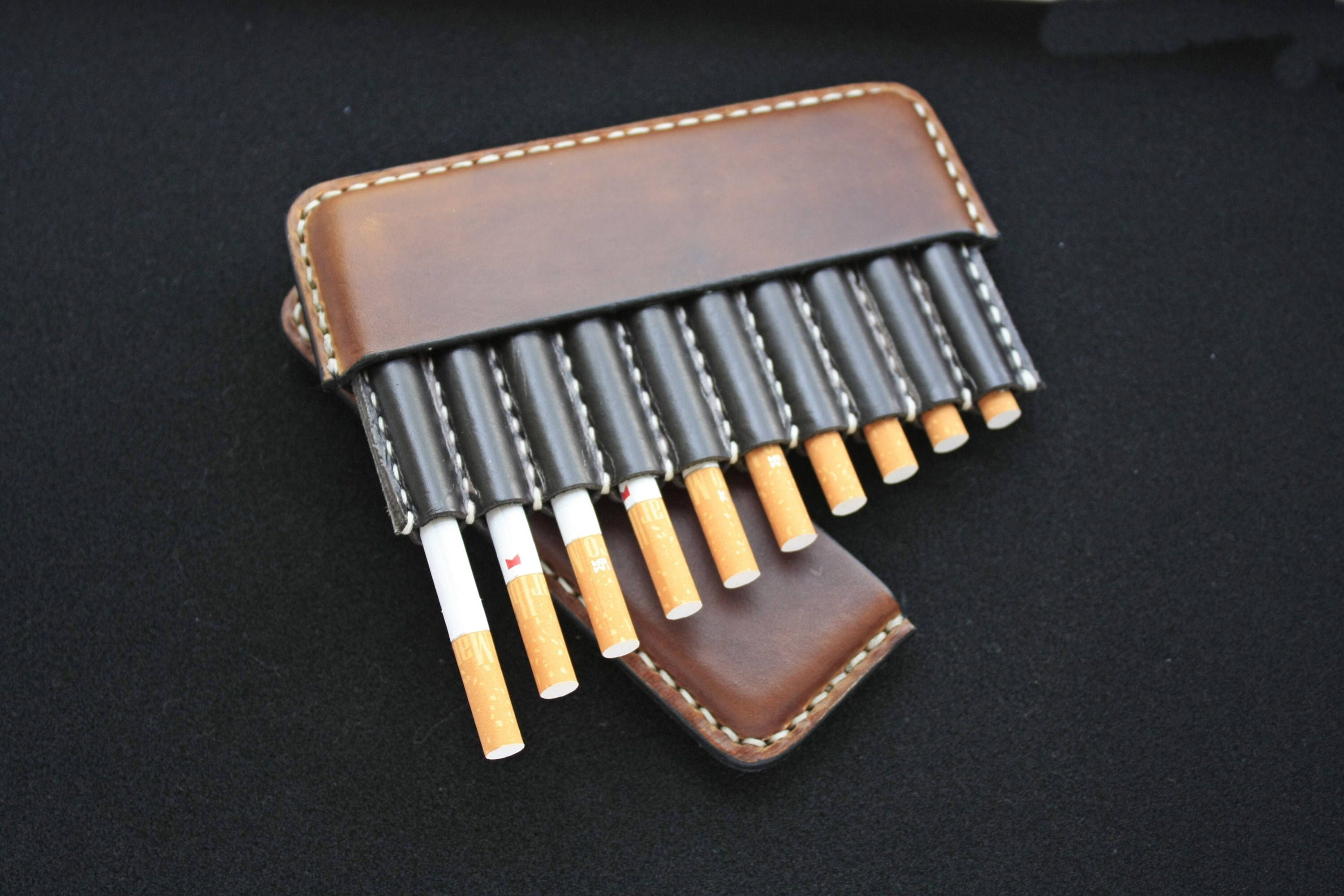 Excited to share the latest addition to my #etsy shop: SALE! Leather cigarette case, Christmas gift, Gifts for smokers, Tobacco pouch, cigarette holder, Vintage Leather Cigarette Case #bagsandpurses #cigaretteholder #cigarettecase #leathercigarette #brownleathercase #tobacciana #handmadecase #smallleathercase #vintageleathercase