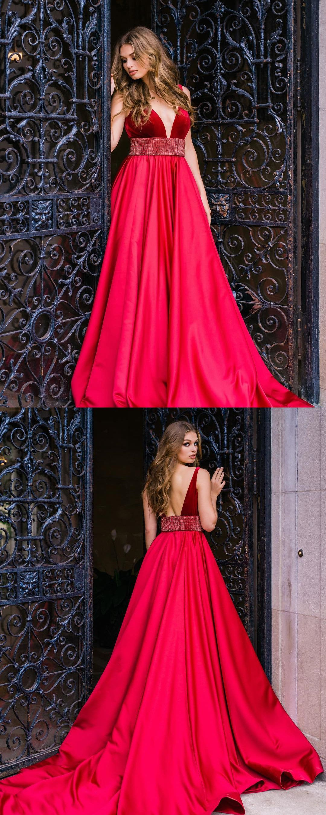 prom dresses long prom dresses red prom dresses v neck red
