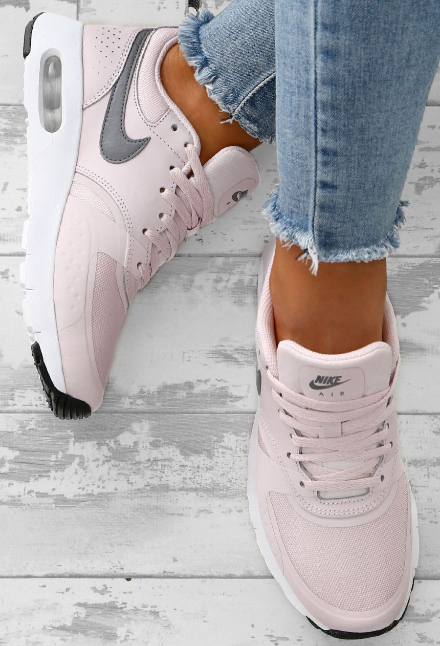 9c19a5c5da92 Nike Air Max Pink and Grey Vision Trainers - UK 3
