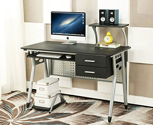 Nice December 2016 4 Cherry Tree Furniture Cherrytree Furniture Computer Desk  With 2 Drawers And Sliding Keyboard Tray Pc Laptop Table Workstat