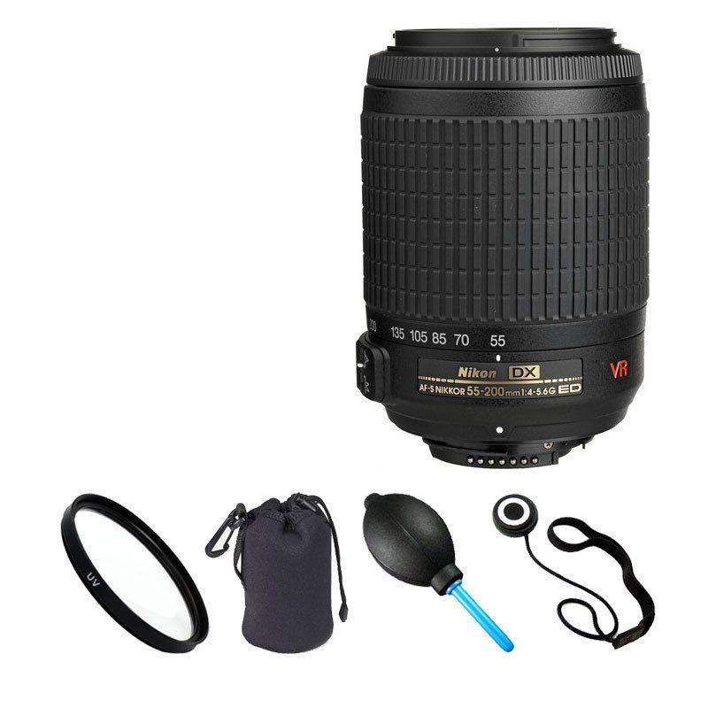 Nikon 55-200mm f/4-5.6G ED IF AF-S DX VR Lens Kit for D3100 D3200 D5100 D7000 #Nikon.   Choice#1