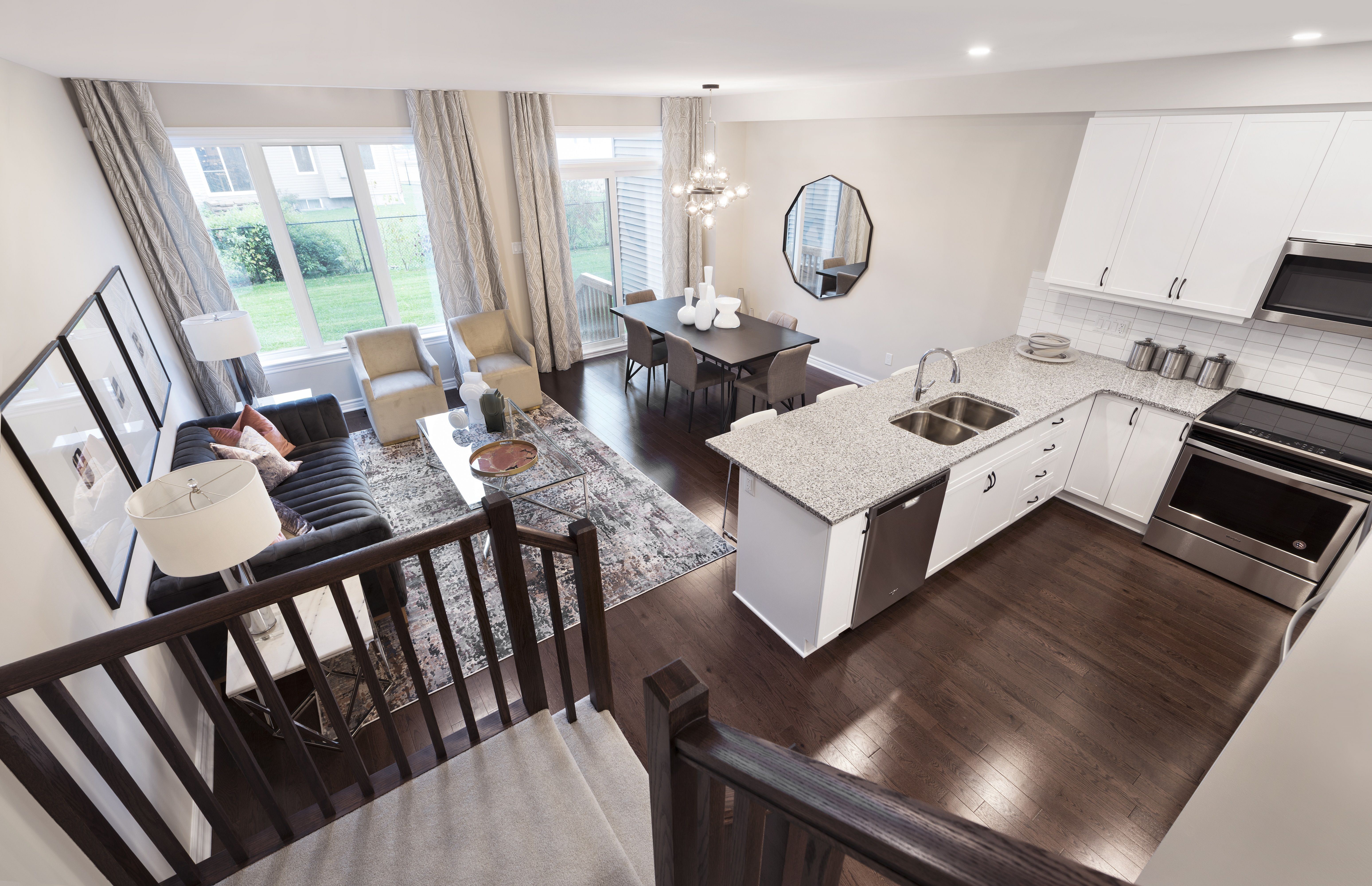 This Is The Spartan Townhome Model Home In Findlay Creek Home