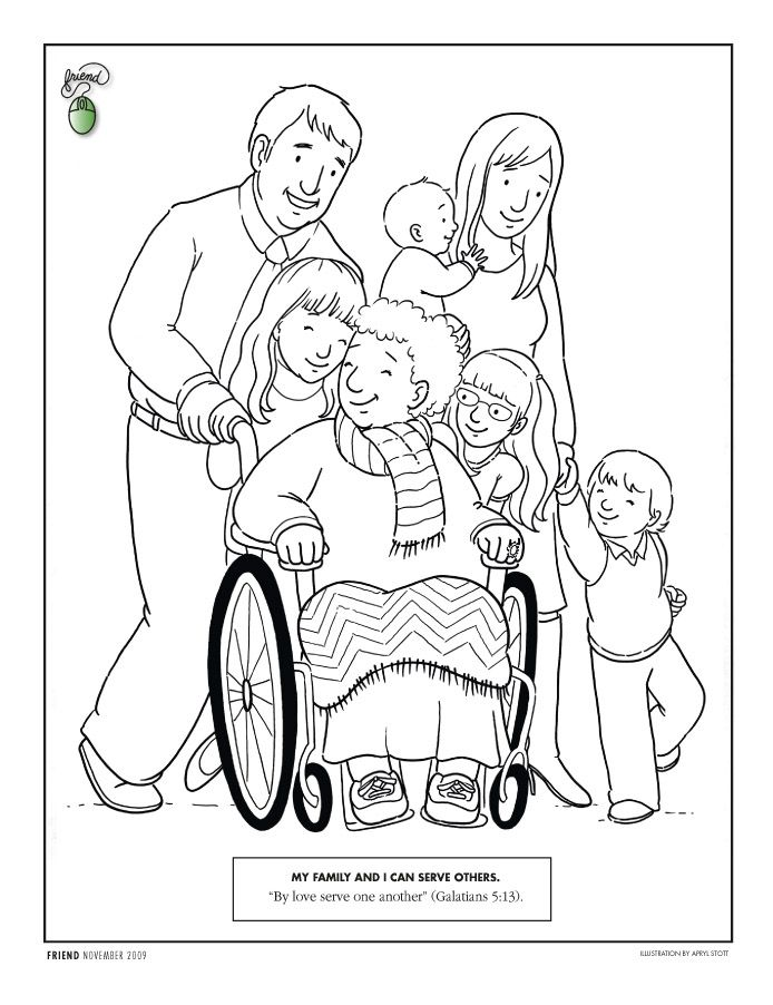 """Love"" Centered F.H.E. with Free Printables Lds coloring"