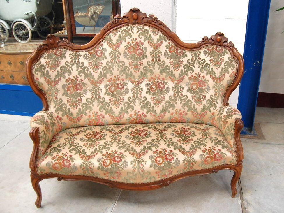 Imbottitura sedie ~ Divano luigi filippo in noce imbottitura rivestimento ottimo