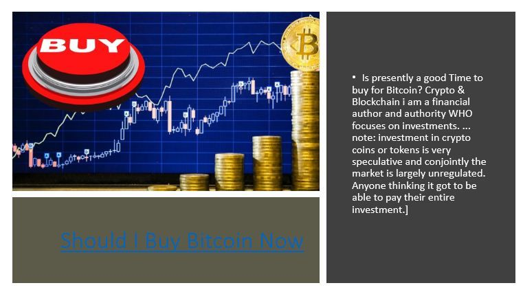 is now the time to buy cryptocurrency