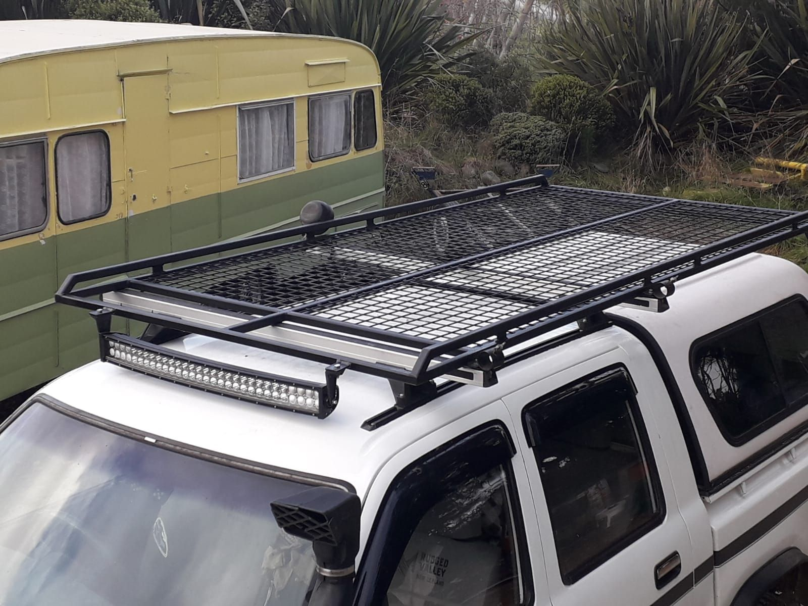 My New Roof Rack On My Ln 106 Hilux Roof Rack Roof Tent Jeep Wj