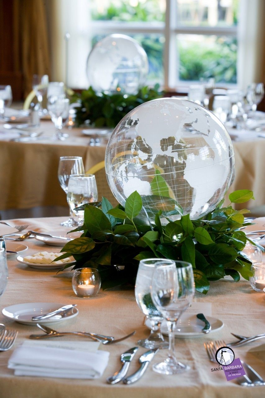 Event options centerpiece world globe http for 7 events flower decorations