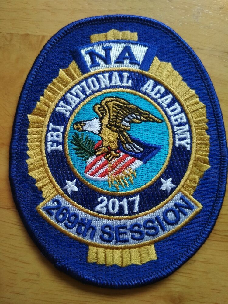 Free Shipping FBI National Academy 2017 Blue Patch NA