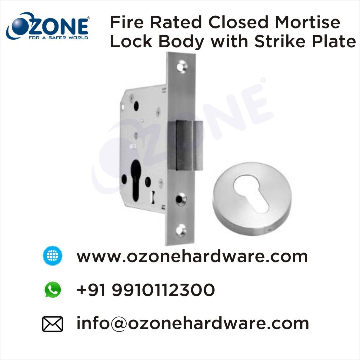 Fire Rated Closed Mortise Lock Body With Strike Plate Door Hardware And Locks High Quality Door Locks Accessories Manufact Mortise Lock Mortising Metal Door
