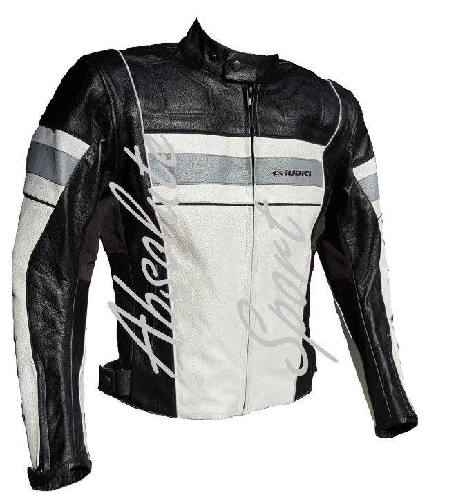 Men/'s Harley Davidson Giubbotto Nero Motocicletta Giacca in pelle da motociclista racer