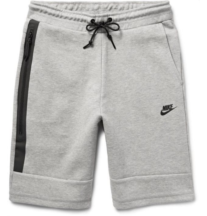 newest f8395 f6cce Nike Cotton-Blend Tech Fleece Shorts (Light gray) C18x9557