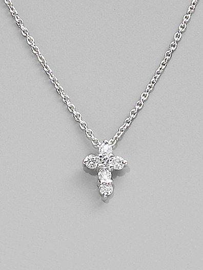 Roberto coin diamond 18k white gold baby cross necklace my roberto coin diamond 18k white gold baby cross necklace aloadofball Image collections