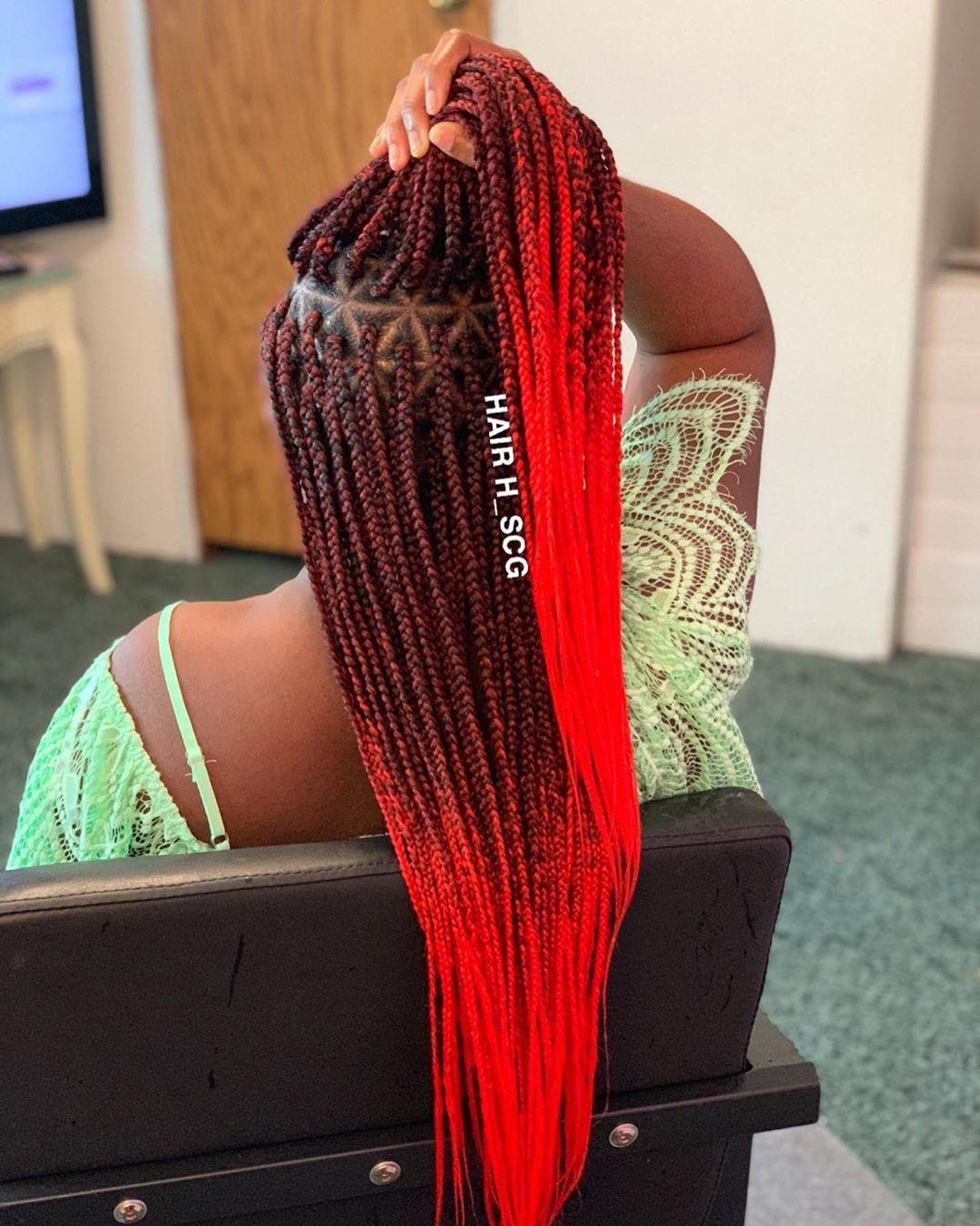 Pin by Milani on Box Braids | Triangle part braids, Braid ...