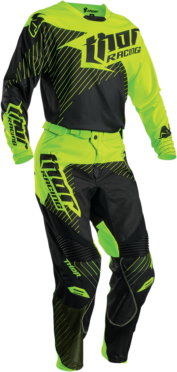 Fly Racing Black F-16 Jersey Pant Boot Combo Set MX//ATV Motocross Riding Gear 18
