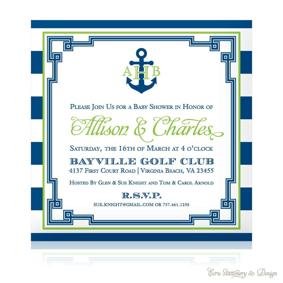 Comproducts553978 Sailboat Nautical Baby Shower Invitation Printable ...