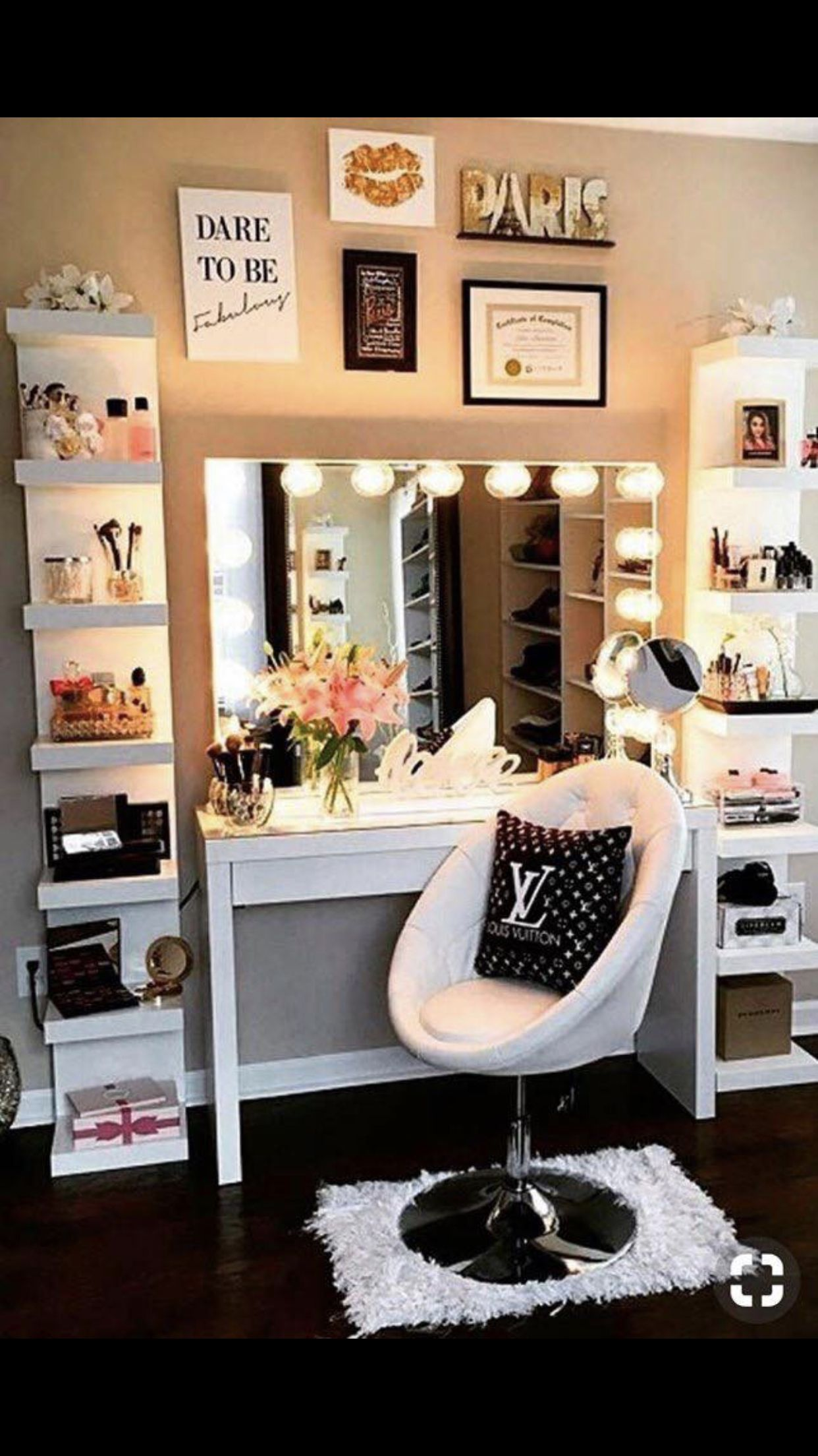 Pin By Tammy Alexander On Ava Room Ideas Diy Makeup Storage Diy