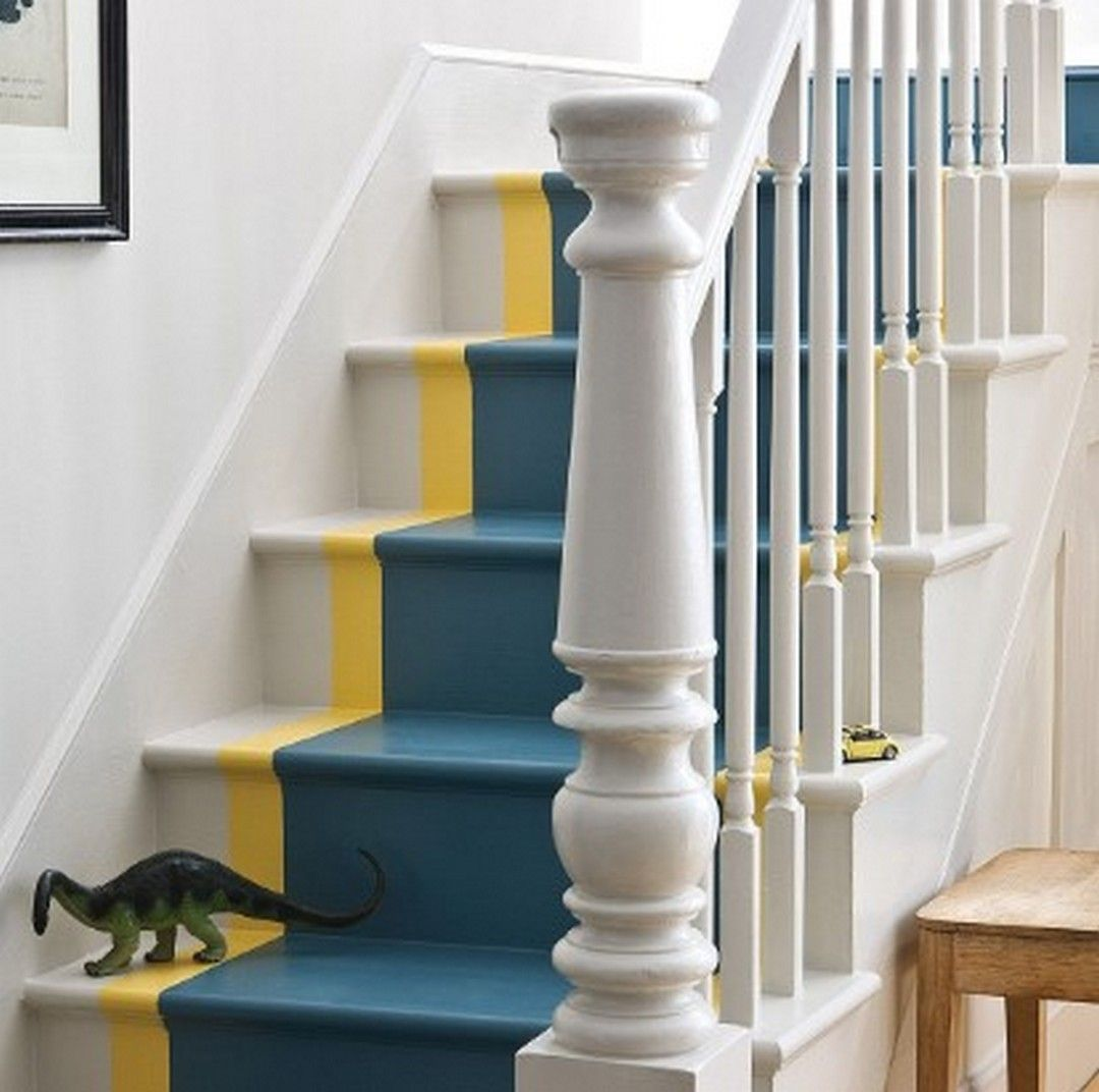 20 Attractive Painted Stairs Ideas: 5 Beautiful Stair Ideas Painted With Attractive Colors