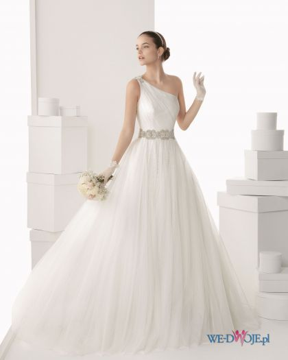 Biala Suknia Slubna Rosa Clara Asymetryczna Slub Wesele Wedding Sukienki Wedding Dresses 2014 Ball Gowns Wedding Ball Gown Wedding Dress