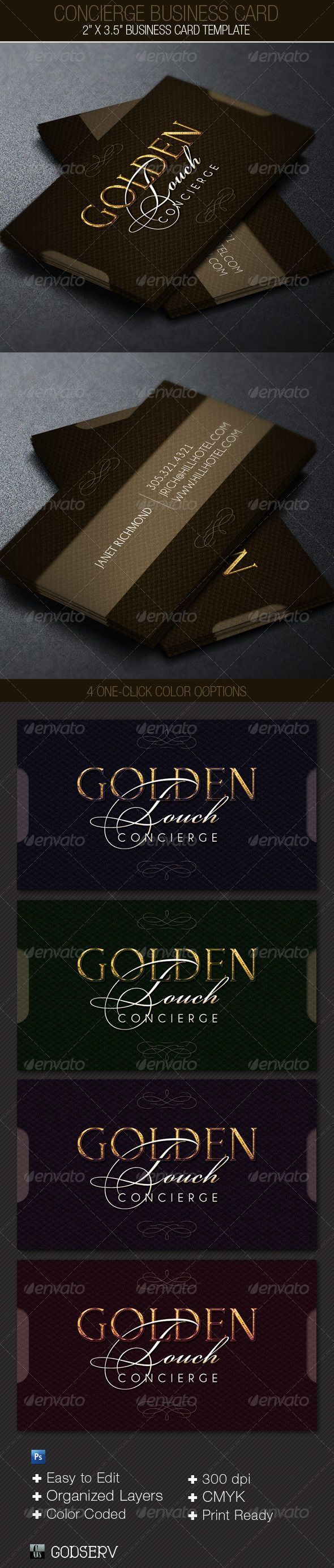 Concierge Business Card Template | Photoshop y Tarjetas de ...