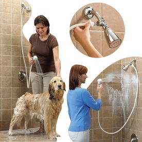 Rinse Ace�Rinse Ace Chrome 1-Spray Convertible Showerhead