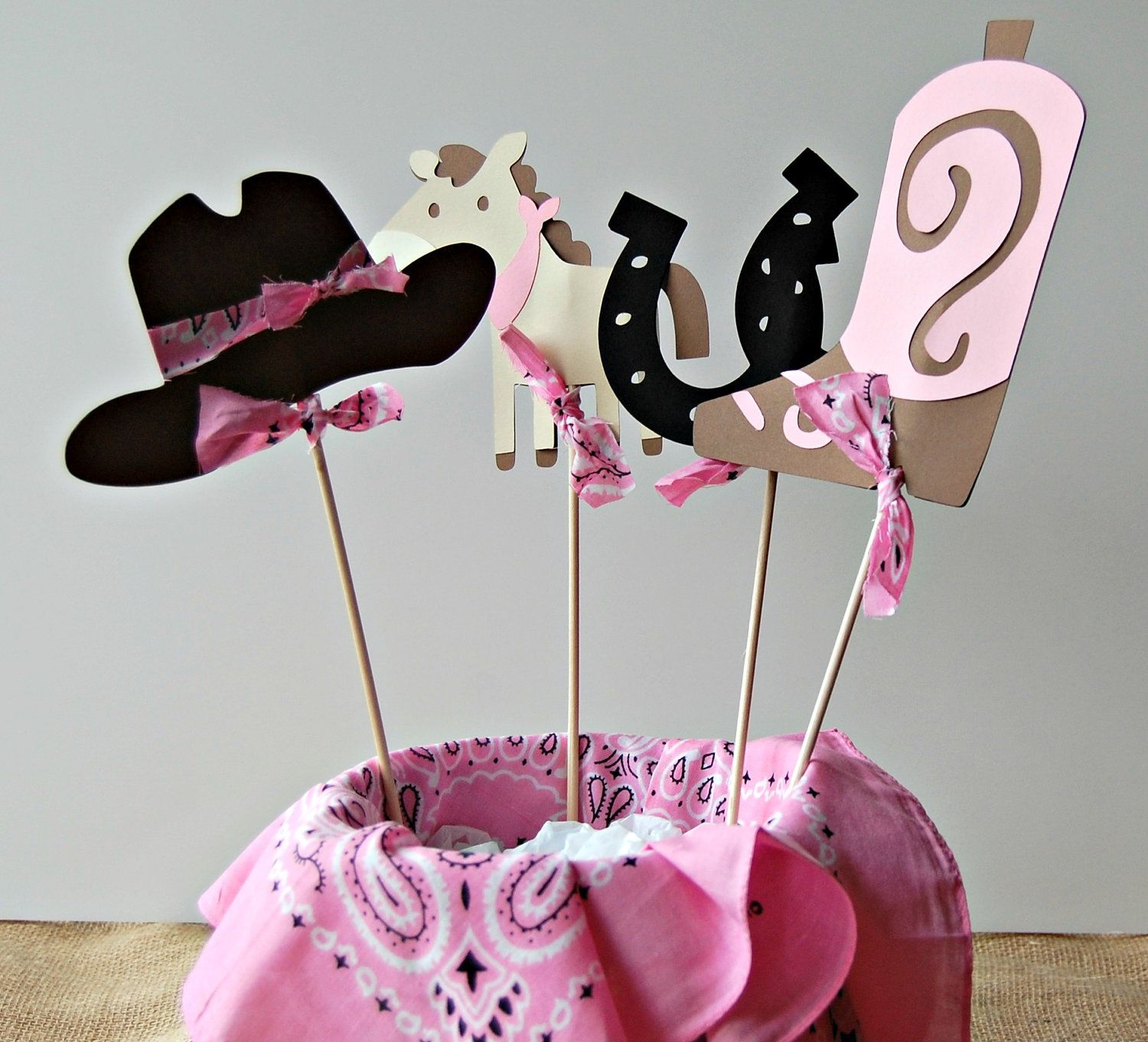 Cowgirl Western Rodeo Ranch Birthday Party Centerpiece ...