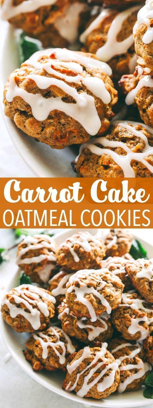 Carrot Cake Oatmeal Cookies | Healthy Oatmeal Cookies Recipe