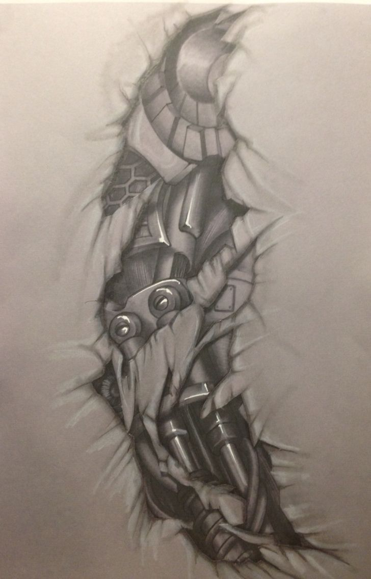 f51232950a4 Bio mechanic Tattoo draw drawing … | biotatarm | Biomechanical ...