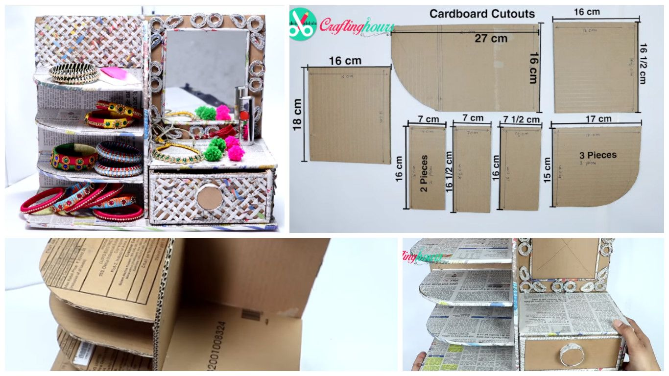How to Make Dressing Table, Vanity Table, Desk Organizer