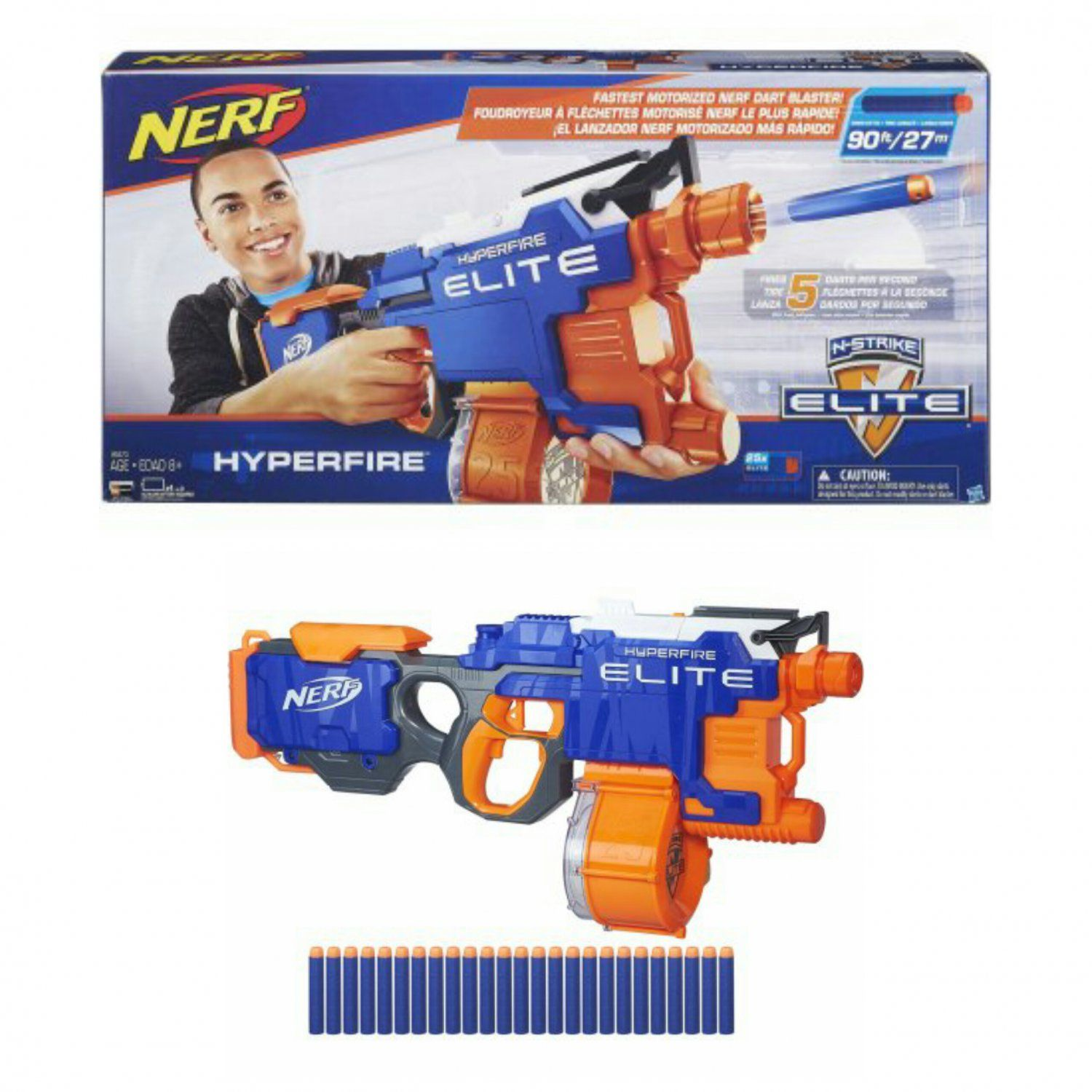 Nerf N Strike Elite HyperFire Motorized Gun Dart Blaster by Hasbro B5573 Walmart Exclusive