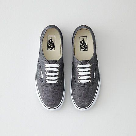 Vans Authentic Black Chambray Shoe  52405cb2c