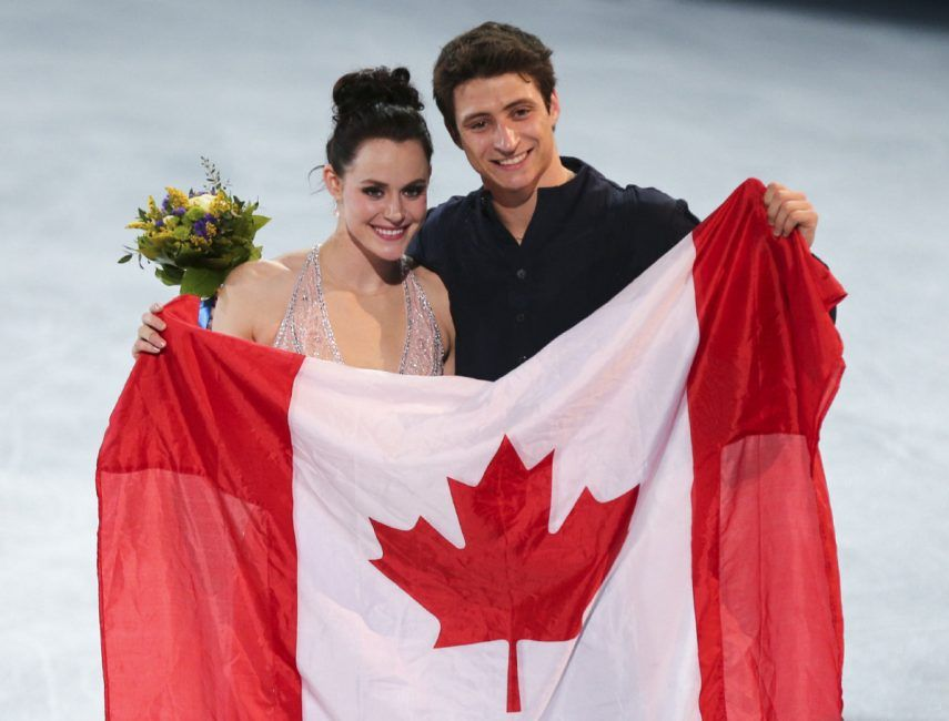 Tessa Virtue And Scott Moir Named Canada S Flag Bearers For Olympics In Pyeongchang Scott Moir Virtue And Moir Canada Day Fireworks