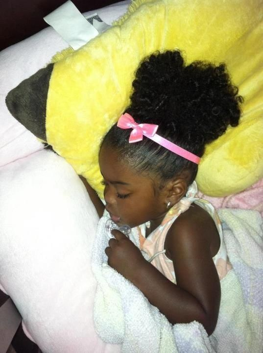 Cute Little Girl With Natural Hair Beautiful Black