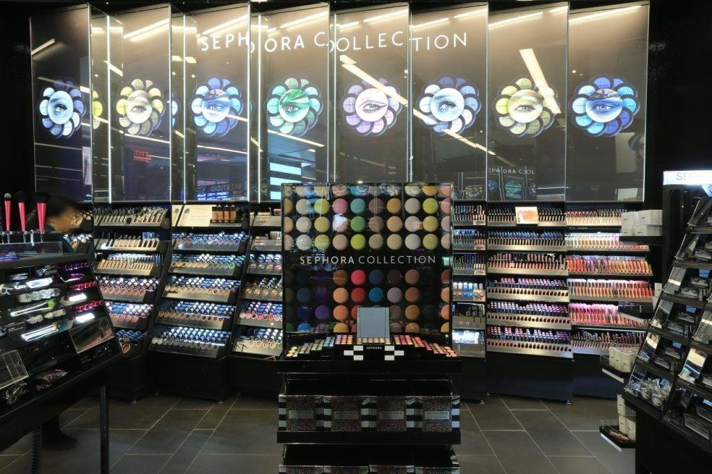 Inside Sephora's Sparkly Times Square Makeover | Squares, Times ...