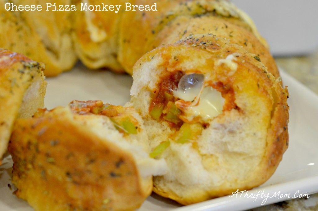 Cheese Pizza Monkey Bread. Looks yummy! via A Thrifty Mom.