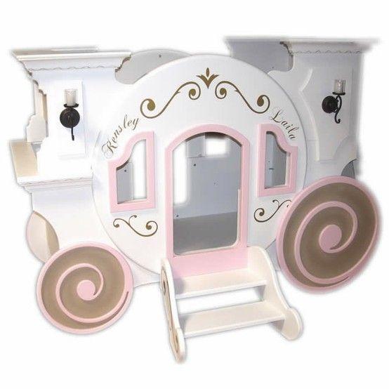 Princess Cinderella S Carriage Bunk Bed Kid S Room Pinterest