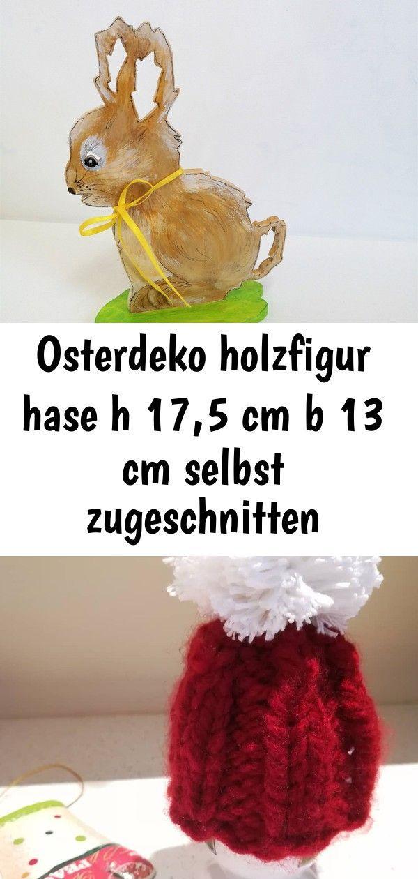 Photo of Osterdeko holzfigur hase h 17,5 cm b 13 cm selbst zugeschnitten handbemalt handa…
