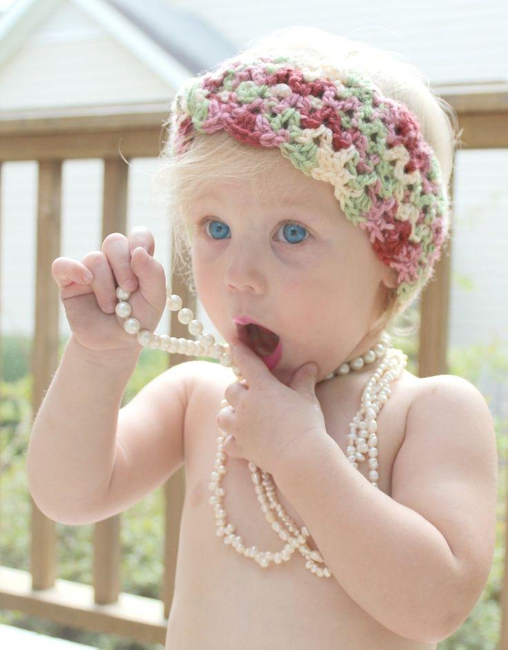 head warmers crochet patterns | Lacy scalloped crochet turban head ...