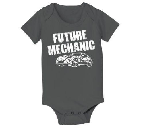 373e1c94e524 Future Mechanic Funny Car Hip Cool Cute Humorous Baby One  Piece:Amazon:Clothing