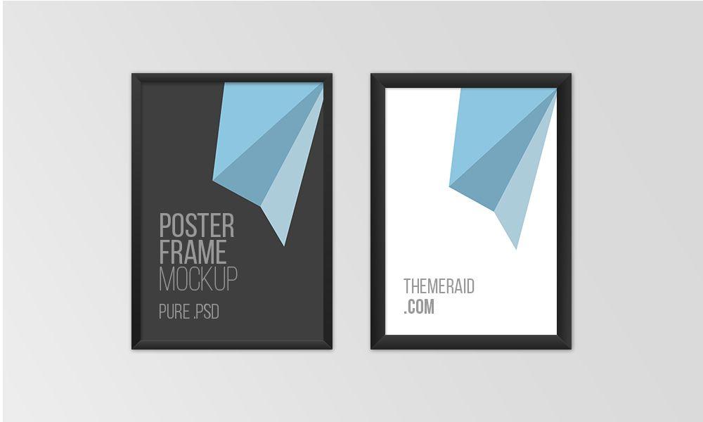 Free psd poster frame mockup flat pinterest mockup free psd poster frame mockup pronofoot35fo Images